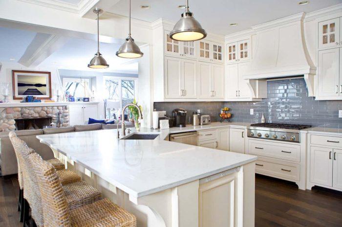Белая кухня — обзор лучших дизайнерских решений. Правила идеального сочетания кухни белого цвета с элементами интерьера (130 фото + инструкция)
