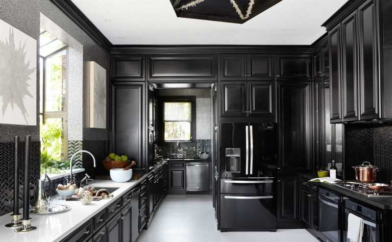 Черная кухня: правила сочетания дизайна кухни черного цвета (100 реальных фото)