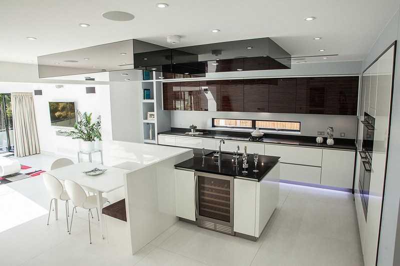 Глянцевая кухня — 125 реальных фото новинок дизайна