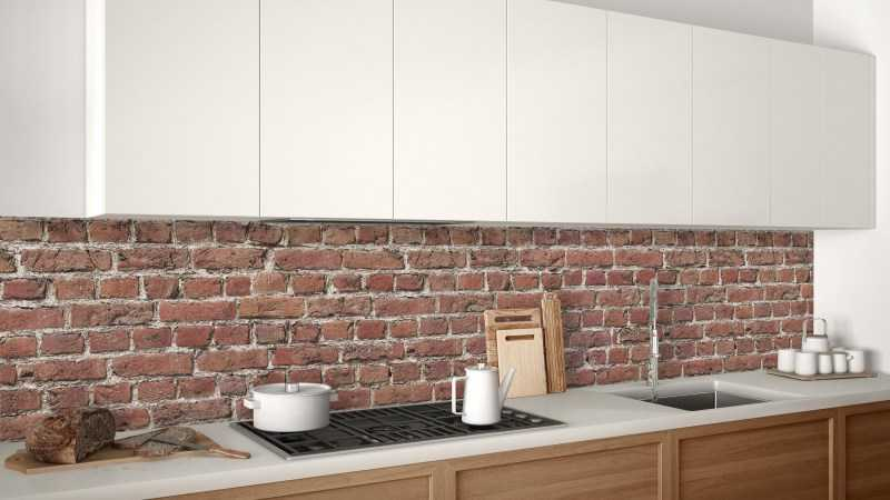 Кирпичная кухня — современные идеи оформления дизайна с кирпичной стеной (95 фото)