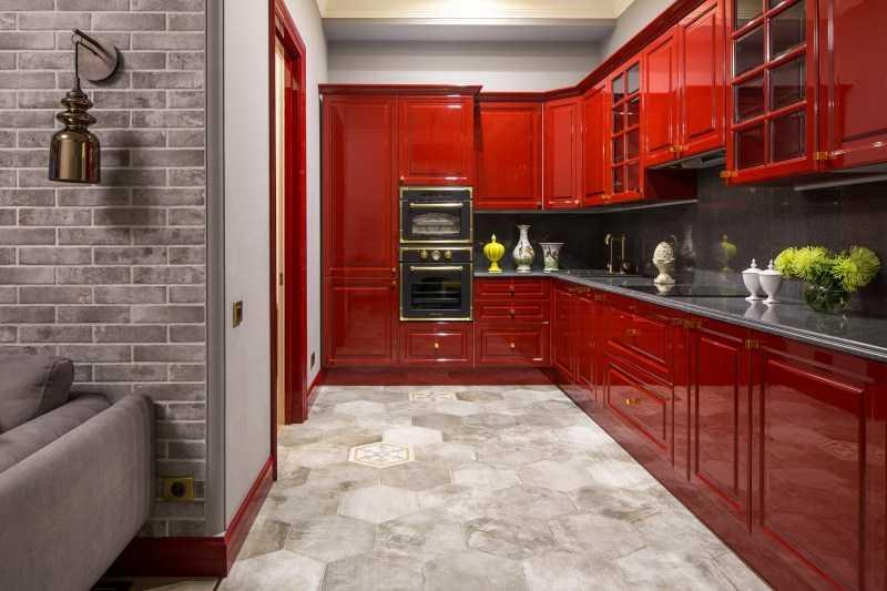 Красная кухня: реальные фотографии современного дизайна кухни в красном цвете. Смелые и эксклюзивные решения для современной кухни