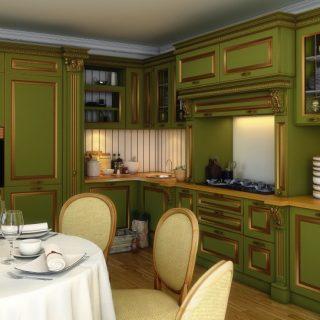 Кухни с патиной: особенности стилистики, цветовая палитра, фото-примеры стильных интерьеров