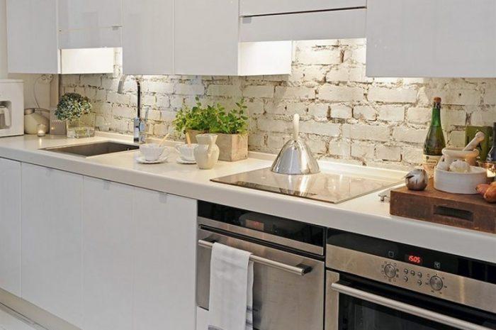 Кухня из камня: эксклюзивные варианты отделки стен в кухне. 150 фото идей дизайна кухни в современном стиле