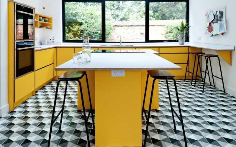 Линолеум для кухни: особенности и виды материала, варианты дизайна + правила укладки (140 фото)