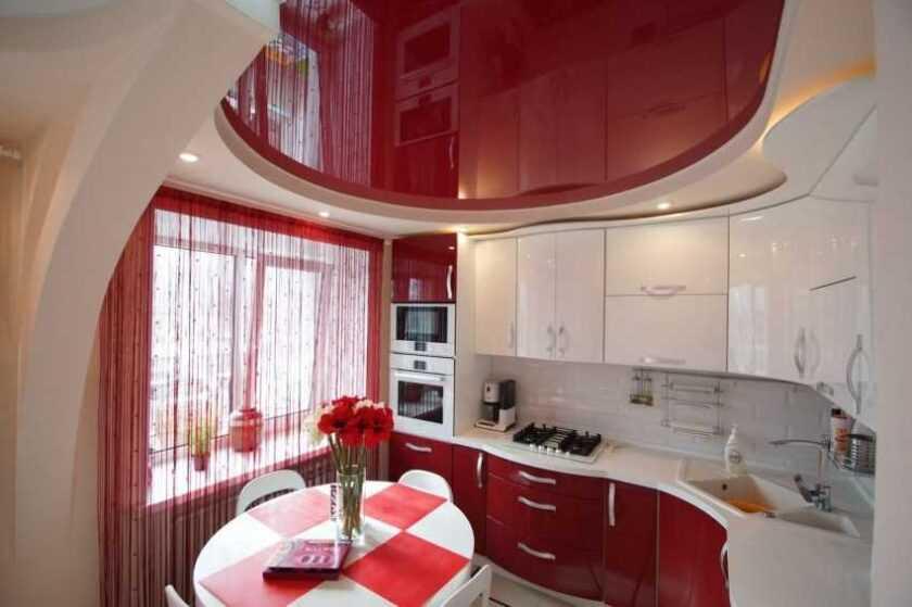 Натяжной потолок на кухне: 180 лучших фото оригинального дизайна