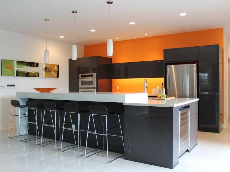 Оранжевая кухня: 120 фото вариантов яркого дизайна. Правила идеального обустройства и сочетания оранжевого цвета в интерьере кухни
