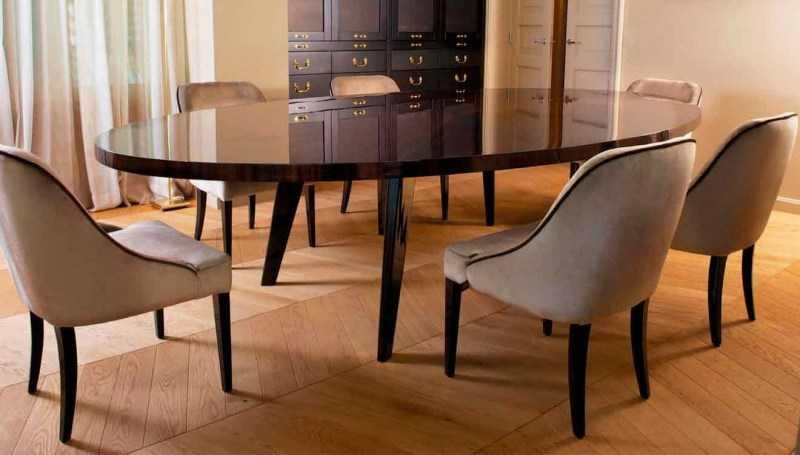 Овальный стол на кухню — современные варианты дизайна кухонной мебели из каталога 2020 года. Обзор новинок на фото!