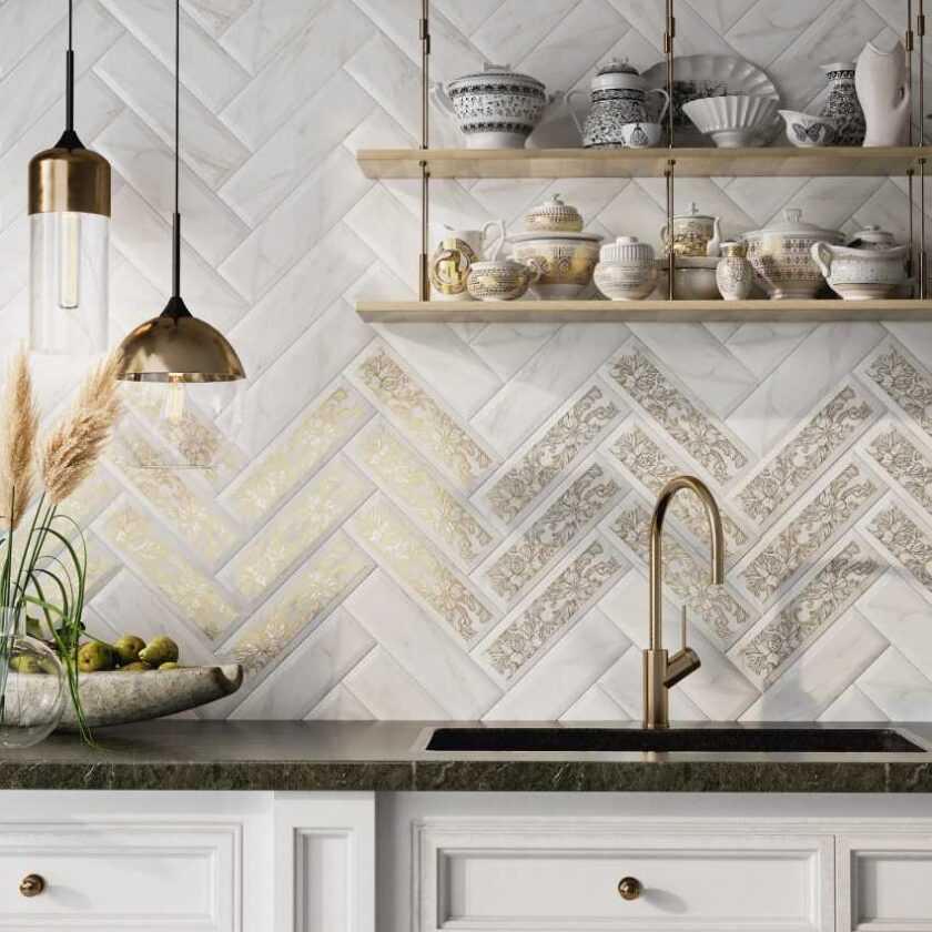 Плитка кабанчик в интерьере кухни: ТОП-150 фото идей и новинок дизайна плитки на фартук