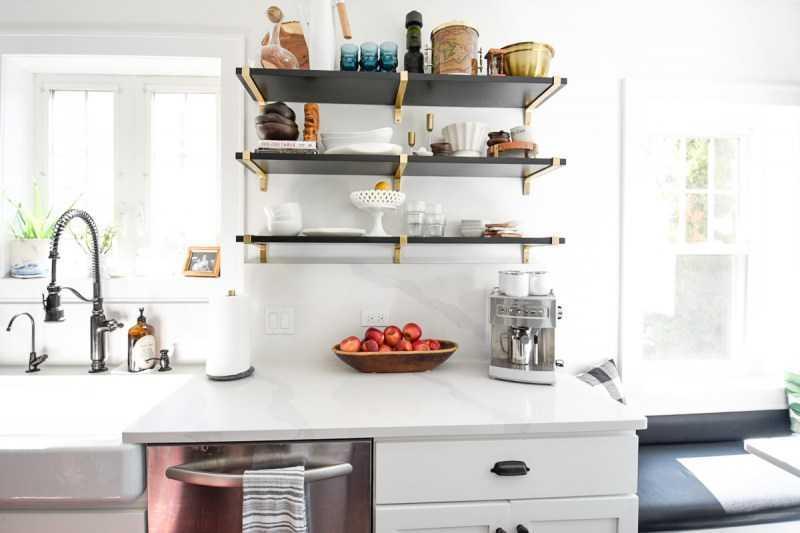 Полки для кухни: цвет, виды, новинки дизайна, материал, преимущества