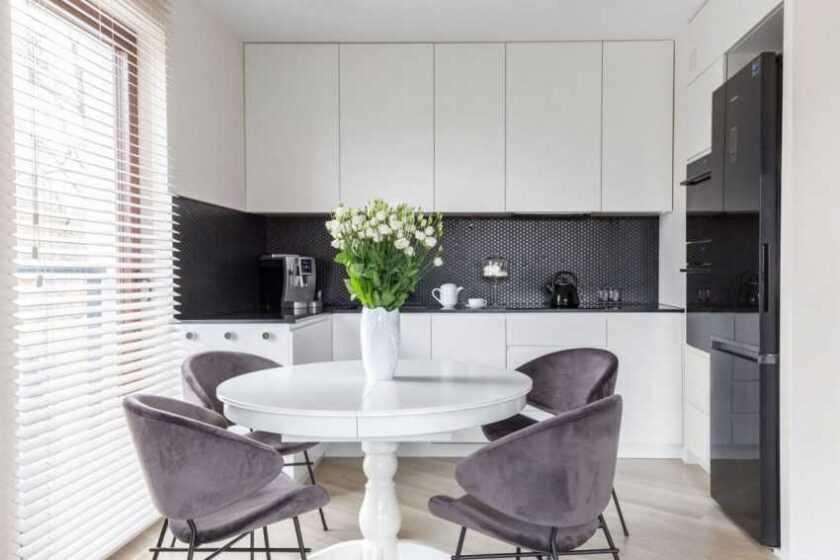 Размеры кухни: обзор стандартных параметров кухонных шкафчиков + 130 фото