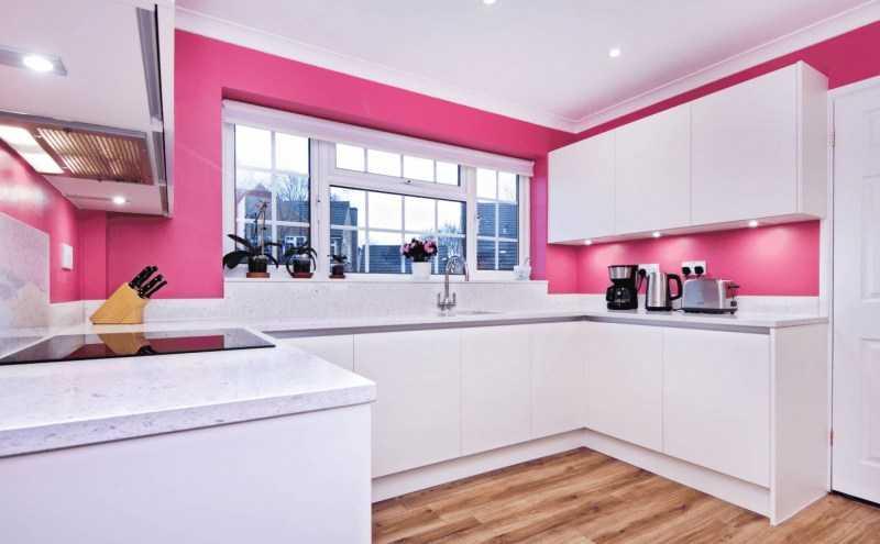 Розовая кухня: удачные варианты сочетания розовых оттенков в интерьере кухни. 140 фото нестандартных вариантов дизайна кухни
