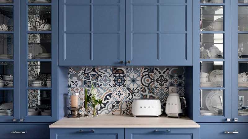 Синяя кухня: правила цветовых сочетаний, примеры стильных интерьеров, советы в оформлении + 180 лучших фото