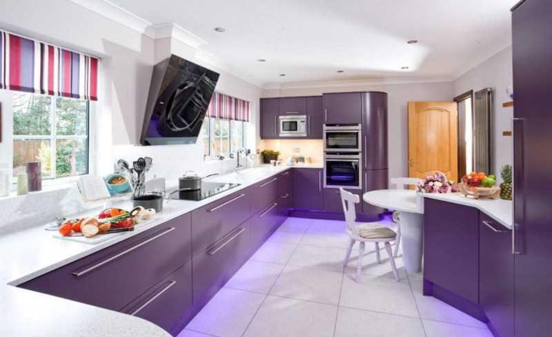 Сиреневая кухня: примеры идеального сочетания в интерьере кухни. Обзор лучших идей и новинок дизайна кухни сиреневого цвета (фото + инструкция)