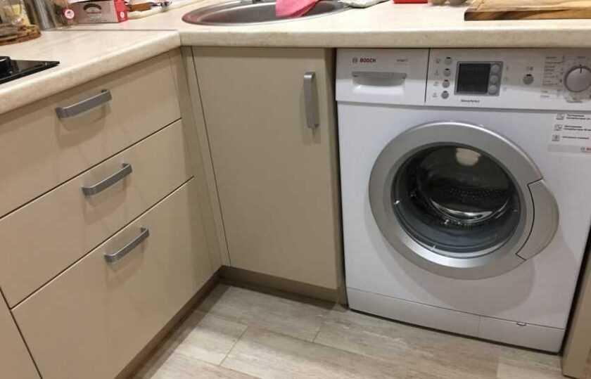 Стиральная машина на кухне: 130 фото-идей размещения. Секреты и тонкости оформления дизайна и планировки кухни