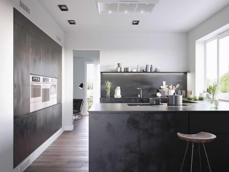 Темная кухня: правила идеального оформления дизайна (140 фото). Оригинальные варианты оформления и сочетания темного цвета в кухне